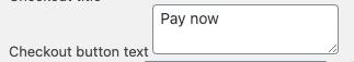 Checkout Button Text