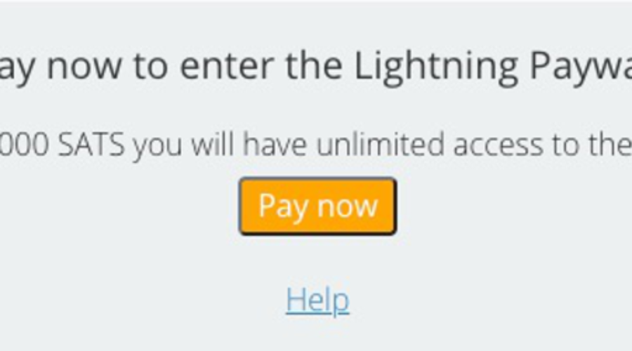 Zahle jetzt die Bitcoin Paywall