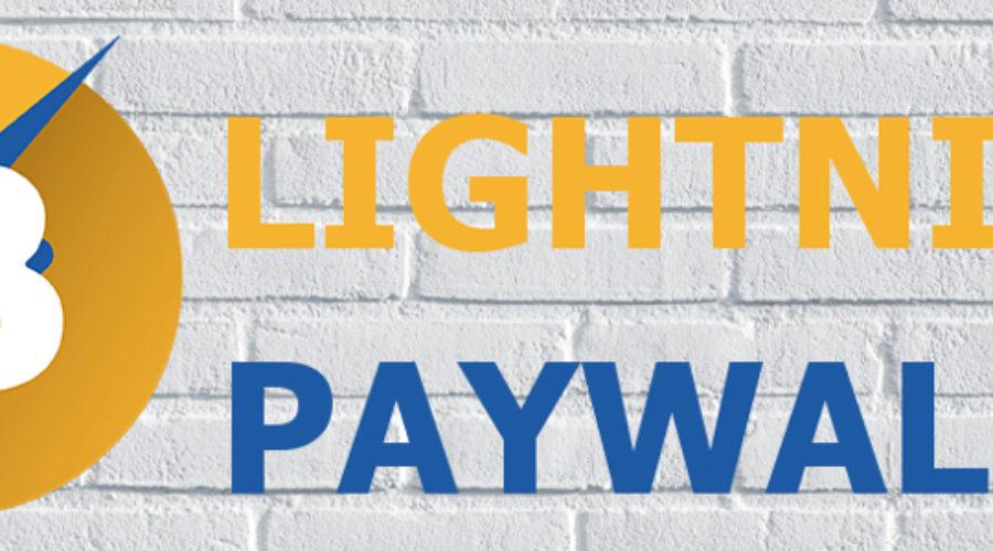 WordPress Lightning Paywall für den BTCPay Server von Coincharge
