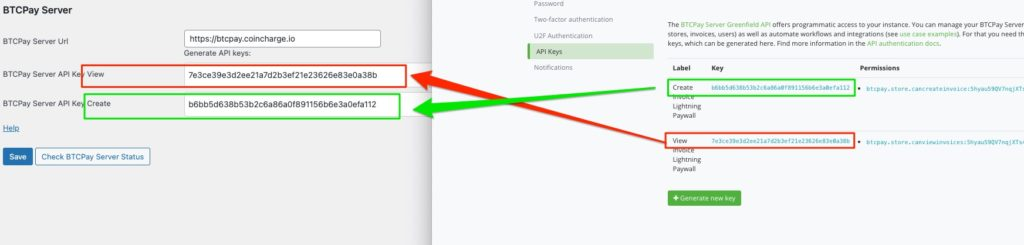 insert BTCpay API key into WP lightning paywall