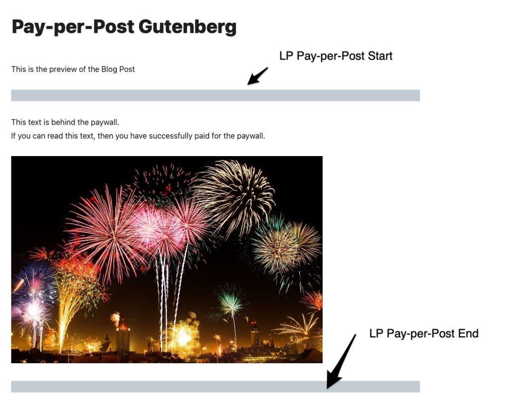Pay per Post Gutenberg