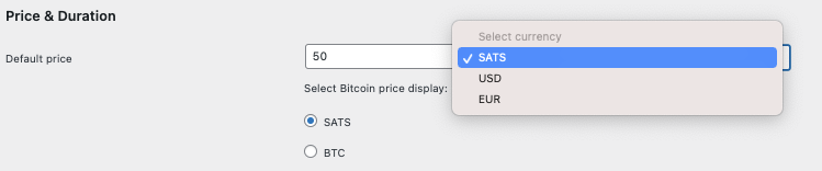 Default Price Lightning Paywall
